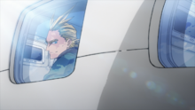 All Might travels to America