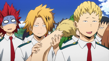 Denki playing with Mashirao's tail