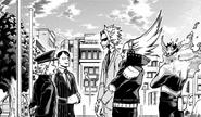 Seiji Shishikura talks to All Might