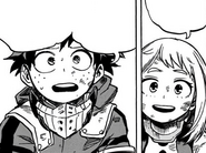 Izuku worries about Ochaco's injuries
