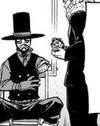 Giran gives Atsuhiro a prosthetic arm