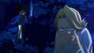 Yuga hides from Dabi
