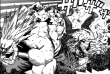 Mt. Lady and Kamui Woods try to stop Gigantomachia
