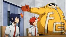 Fat Gum habla de Tamaki y Eijiro