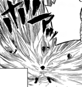 Nagamasa using his Quirk in a fight
