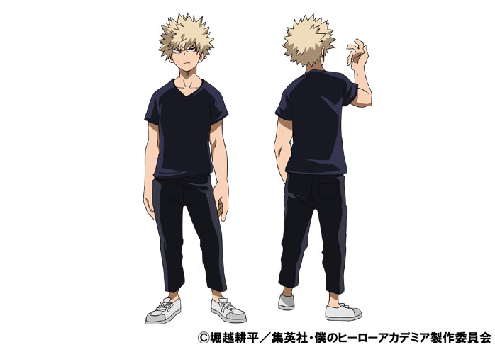 Katsuki Bakugo Casual TV Animation Design Sheet