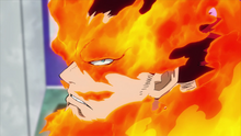 Endeavor glares at All Might