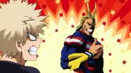 Katsuki tells All Might he's not afraid