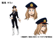 Camie Utsushimi TV Animation Design Sheet