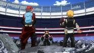 Eijiro and Denki rescue the last people