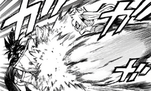 Itsuka Kendo rushes Momo Yaoyorozu