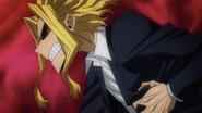 Toshinori Yagi reacts to Endeavor getting injured