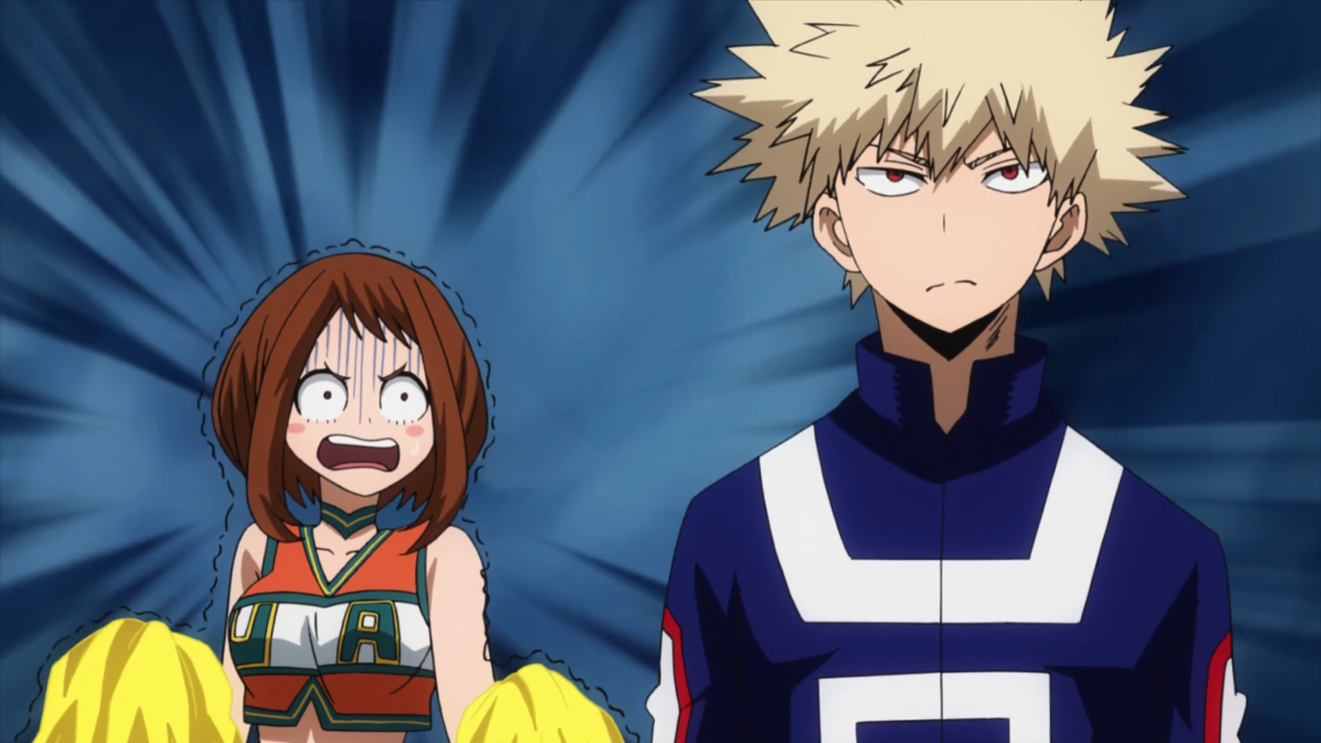 Boku No Hero Academia Kacchan X Uraraka Anime Top Wallpaper