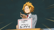 Denki chooses their hero name