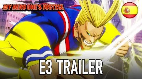 My Hero One's Justice - PS4 XB1 PC Switch - E3 trailer (Español Trailer)