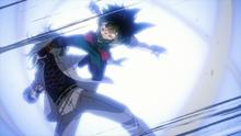 Izuku kicks Nine