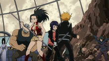 Momo, Denki, and Kyoka vs. villains