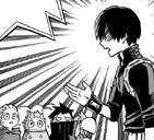 Shoto Todoroki talks to the kids