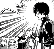 Shoto Todoroki talks to the kids