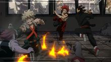 Katsuki y Eijirou vs Villanos