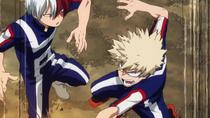 Bakugo desafiando a Todoroki