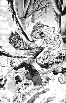 Endeavor and Ryukyu defeat Woman