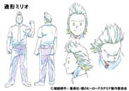 Mirio Togata Shading TV Animation Design Sheet