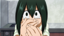 Tsuyu worries about All Might