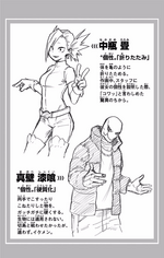 Volume 13 Tatami Nakagame and Shikkui Makabe Profiles