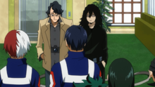 Shota Aizawa introduces Taneo Tokuda to Class 1-A