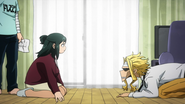 Inko asking All Might to live and protect Izuku