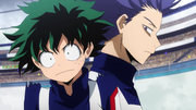 Hitoshi sneaks up on Izuku