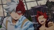 Shoto observa el poder de All Might