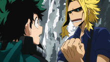 Toshinori advises Izuku on his fighting style