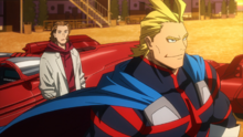 All Might and David in their youth