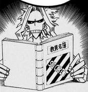 All Might reading up on Aizawa