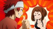 Ochaco likes Eijiro's room