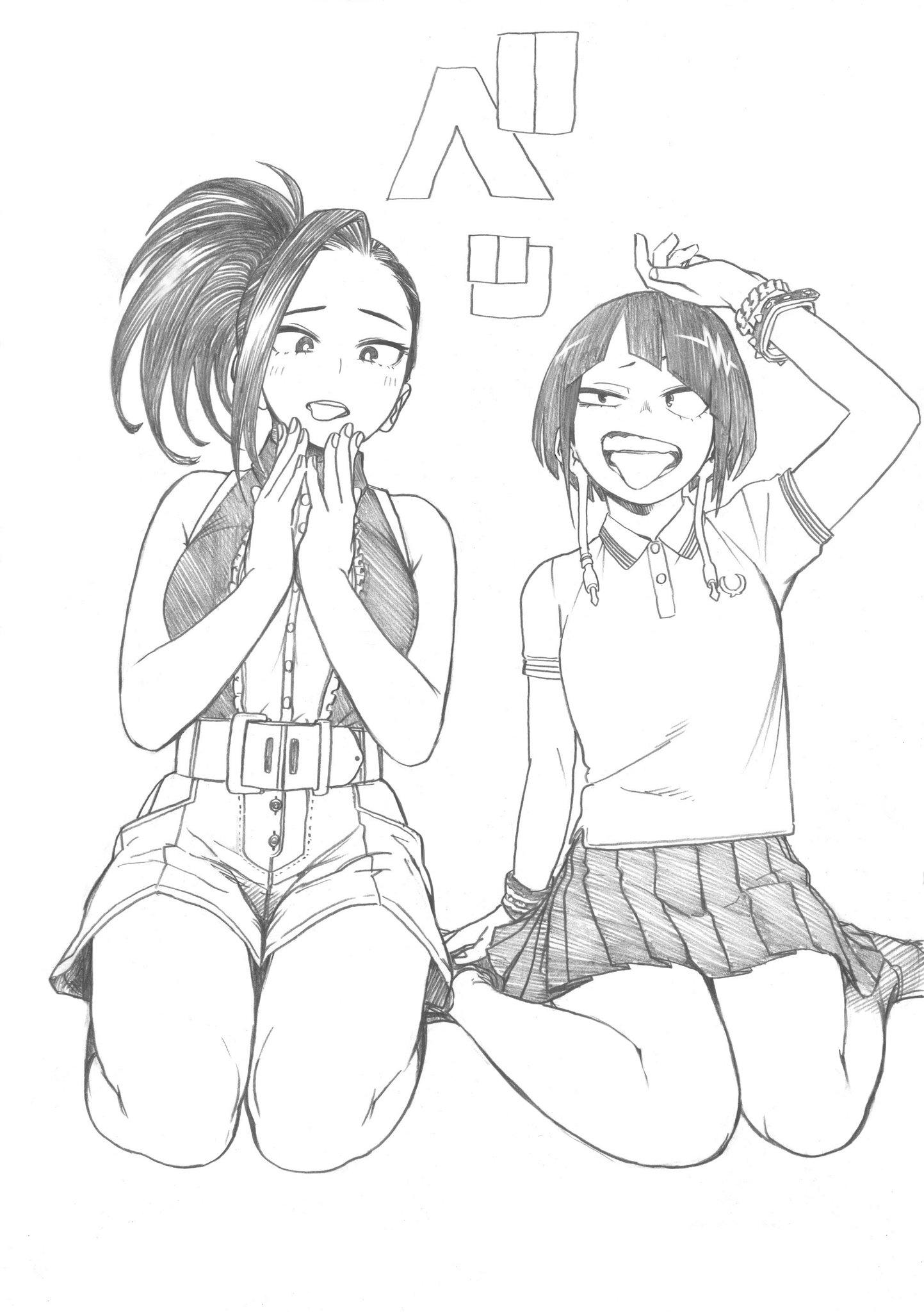 Momo and Kyoka Sketch