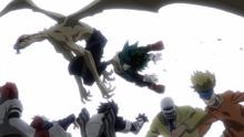 Winged Nomu takes Izuku Midoriya