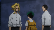 All Might checks up on Izuku