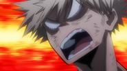 Katsuki Bakugo angry with Izuku