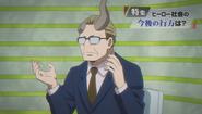 Daikaku presenting the news.