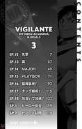 Volume 3 (Vigilantes) Table of Contents