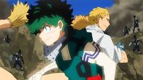 Izuku luchando con Mashirao