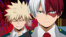 Shoto and Katsuki go to training