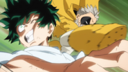 Gran Torino knocks full cowl out of Izuku
