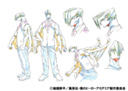 Mezo Shoji Uniform Shading TV Animation Design Sheet