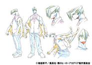 Mezo Shoji Uniform Shading TV Animation Design Sheet