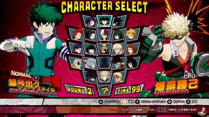 My hero one justice seleccion de personajes