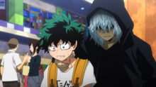 Tomura talks to Izuku